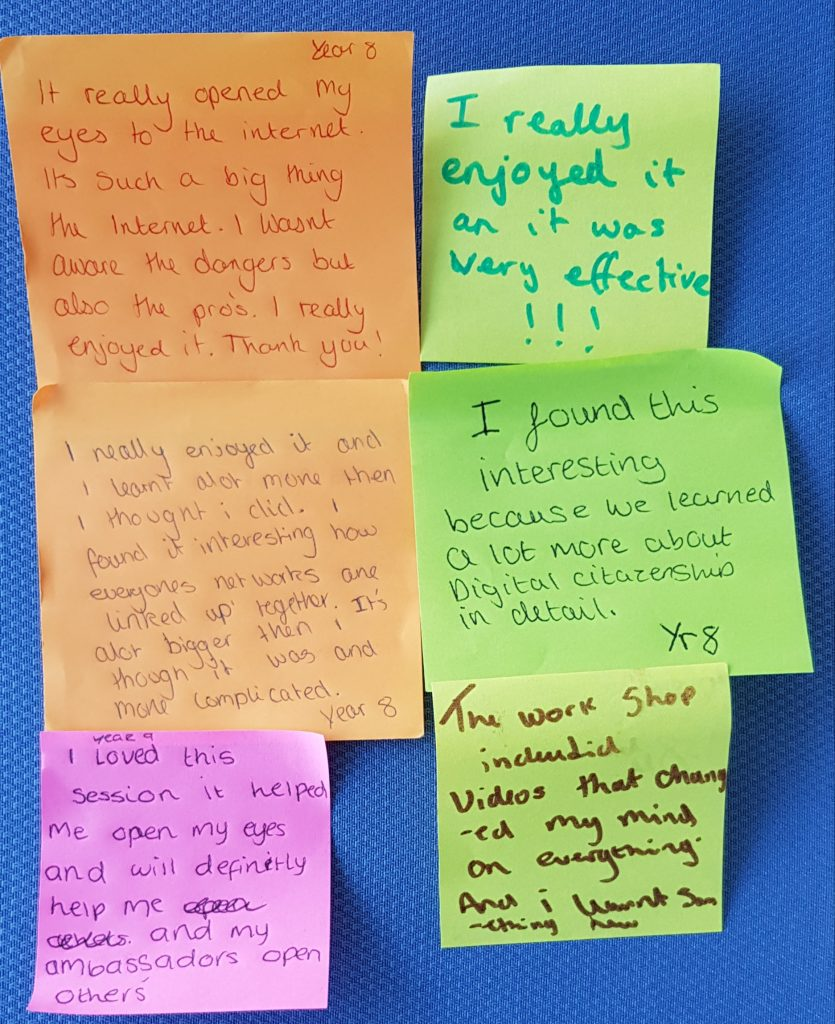 Feedback from the pupils
